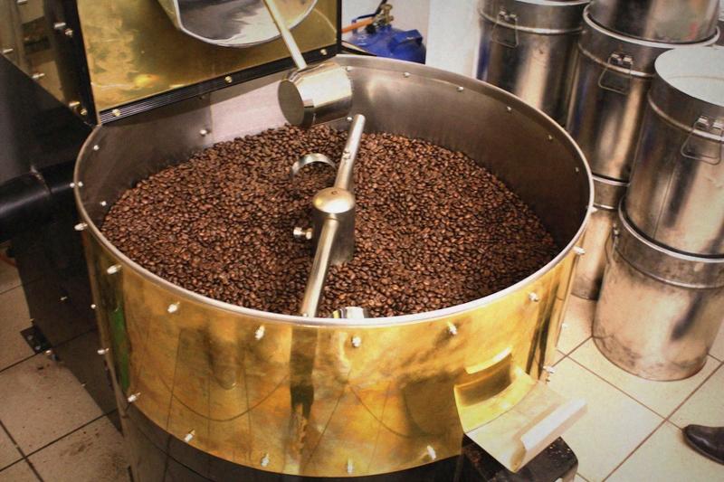 Röstfrische Kaffeebohnen